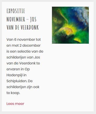 Expositie Op Hodenpijl november 2018