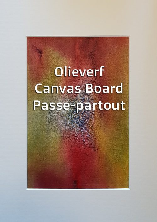 CANVAS BOARD IN PASSEPARTOUT