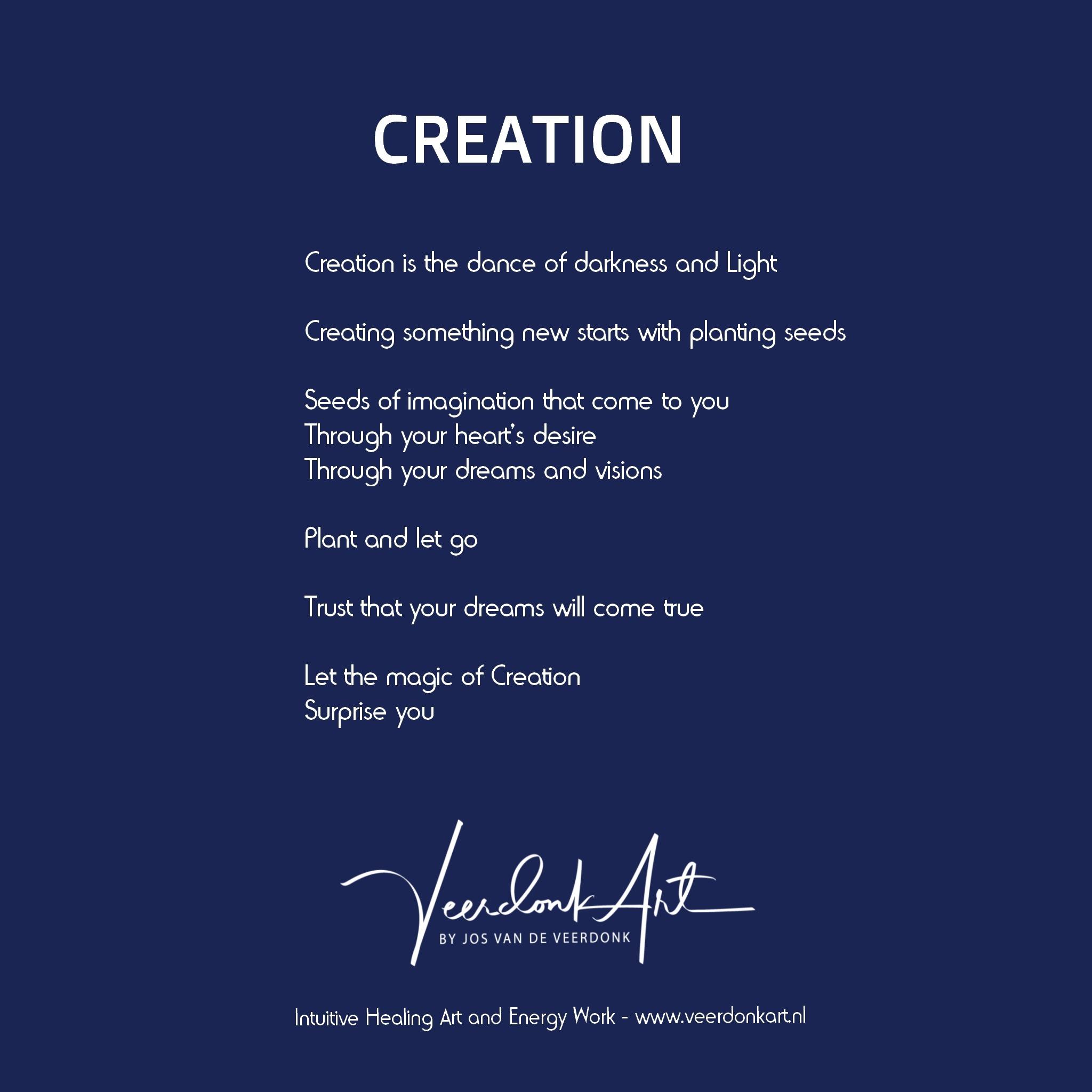 Kaart Creation achterkant
